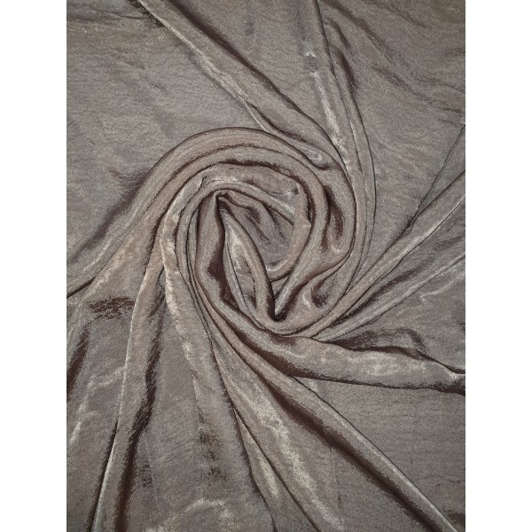 Plain Velvet scarf Dark Brown