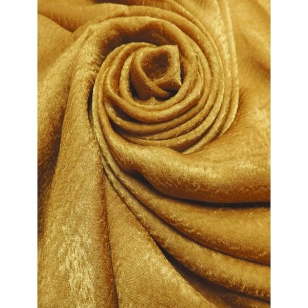 Plain Velvet scarf Gold