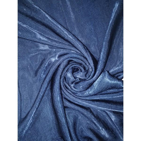 Plain Velvet scarf Navy