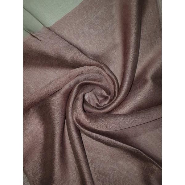 Silk Tassle scarf Machiatto (Brown Border)
