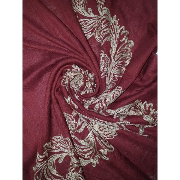 Embroidery Phoenix scarf (Burgundy)
