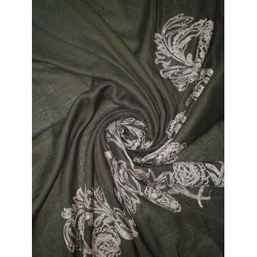 Embroidery Phoenix scarf (Khaki)
