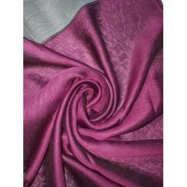 Silk Tassle scarf Dark Purple