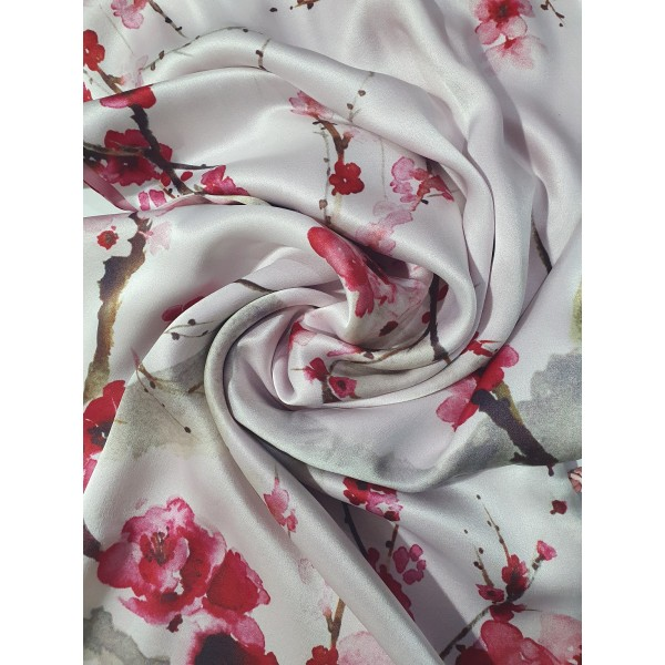 100% Silk double sided pattern scarf