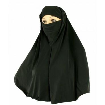Yusra : Hijabs Black Jersey  Niqab Hijab (5XL)