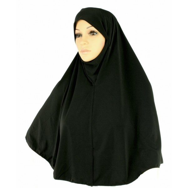 Yusra : Hijabs Black Jersey  (L)