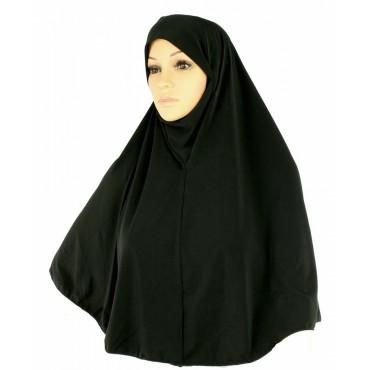 Yusra : Premium Hijabs Black  (L)