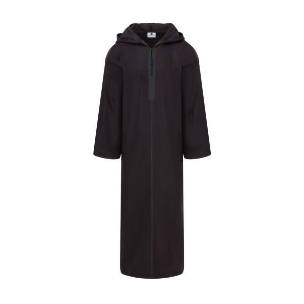 Moroccan Hooded Thoub Black