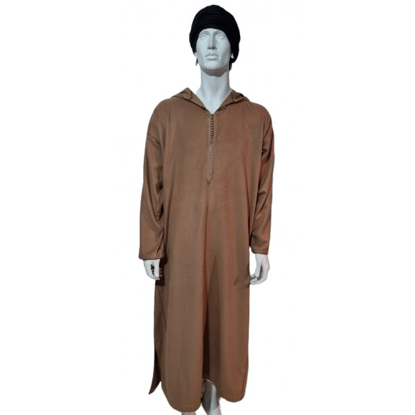 Moroccan Hooded Thoub Light Brown