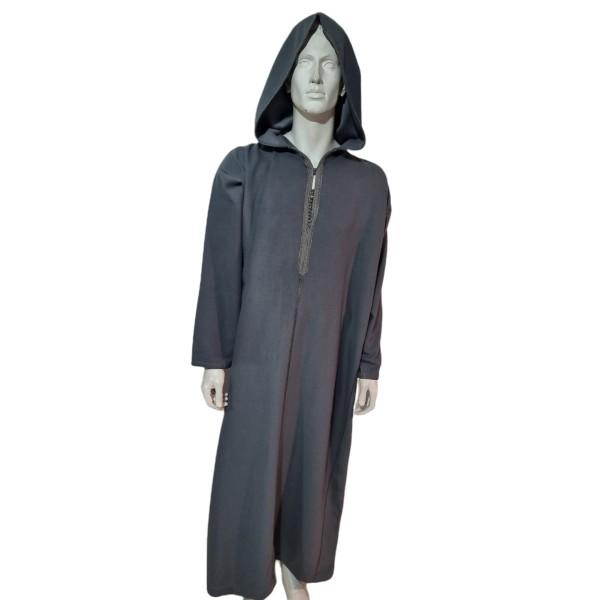 Moroccan Hooded Thoub Grey