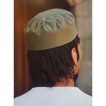 Cotton Pleated Hat Khaki Green