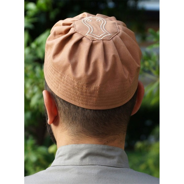 Sandal Pleated Hat Toasted Nut (2XL)