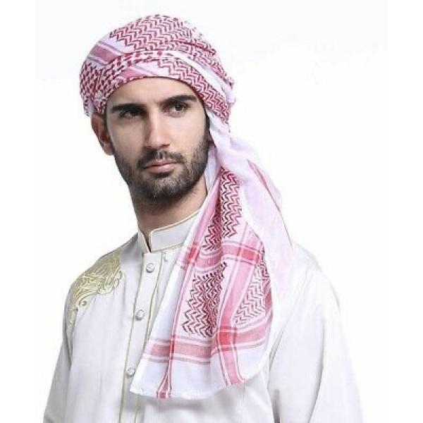 Palestinian Scarf men Red/White (CO140)