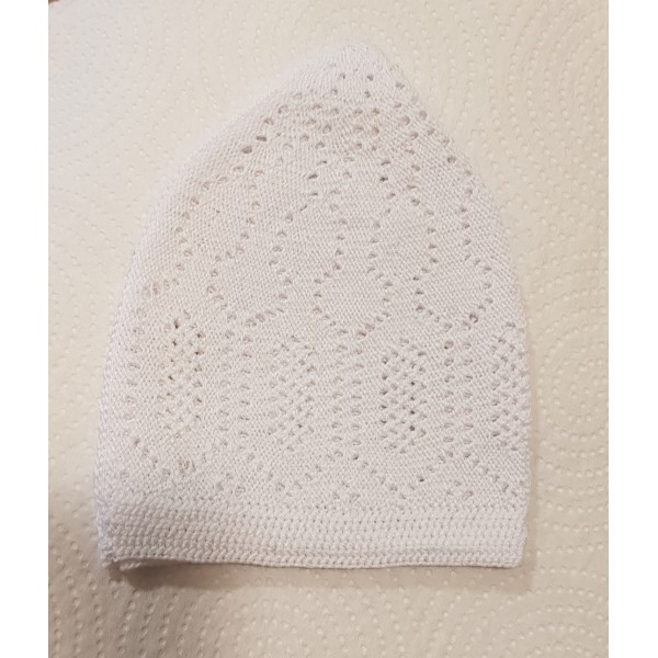 Mercan Cotton Hat - White