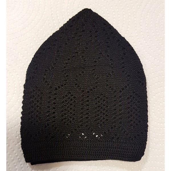 Mercan Cotton Hat - Black