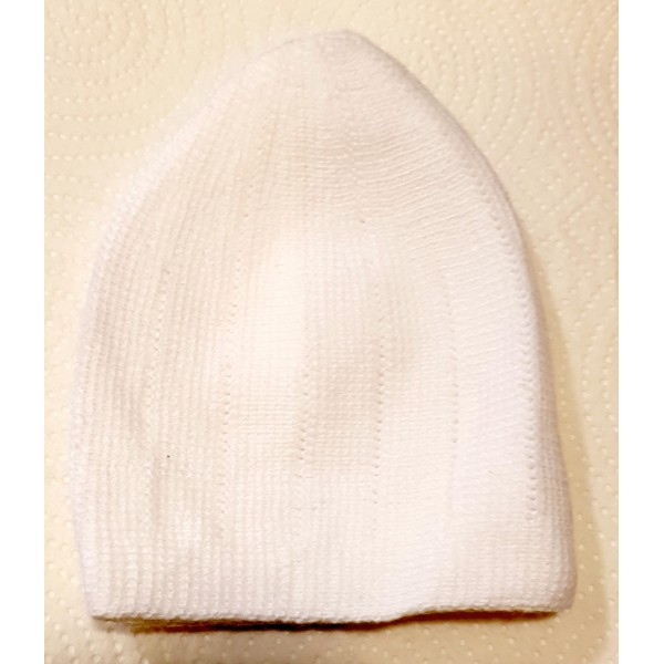 Mercan Plain Thick Hat - White