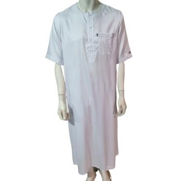 Ikaf - Stitched Style Short Sleeve (White)