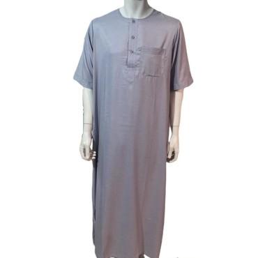 Ikaf - Stitched Style Short Sleeve (Light Grey)