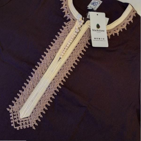 Ikaf - Short Sleeve Moroccan Thobe - Purple