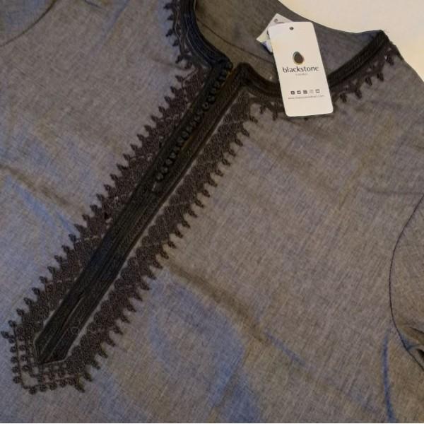 Ikaf - Short Sleeve Moroccan Thobe - Grey