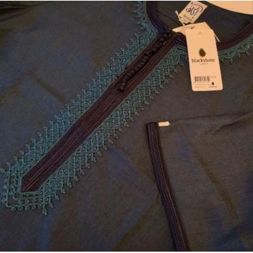 Ikaf - Short Sleeve Moroccan Thobe - Turquoise