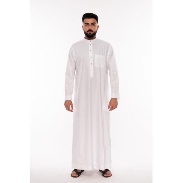 Al Noor5 - Stud White Thoub