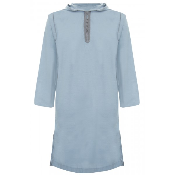 SS - Moroccan Hooded Light Blue