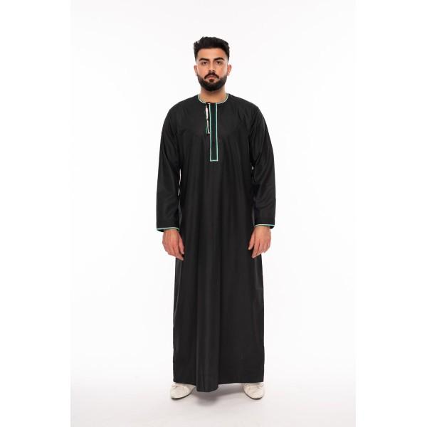 Al Noor - Palestine Thoub Black