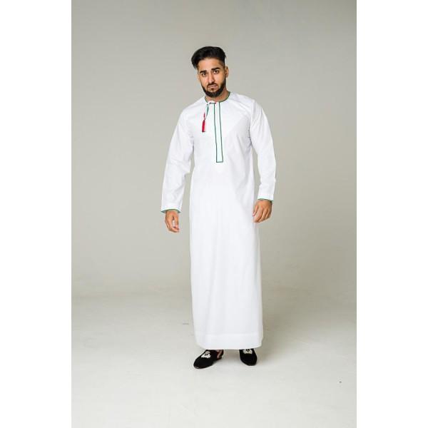 Al Noor - Palestine Thoub White