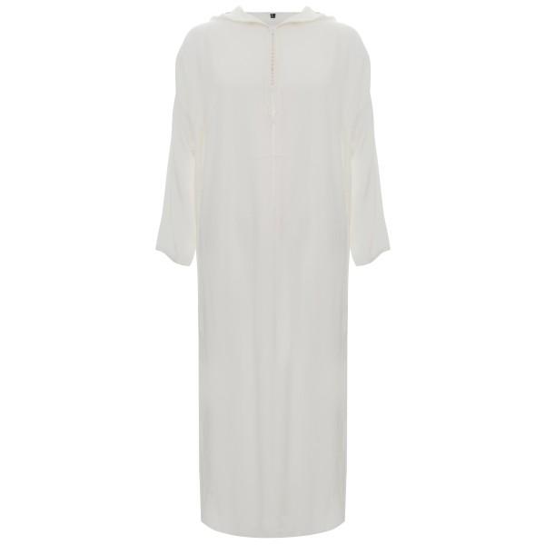 SL - Moroccan Hooded White Linen
