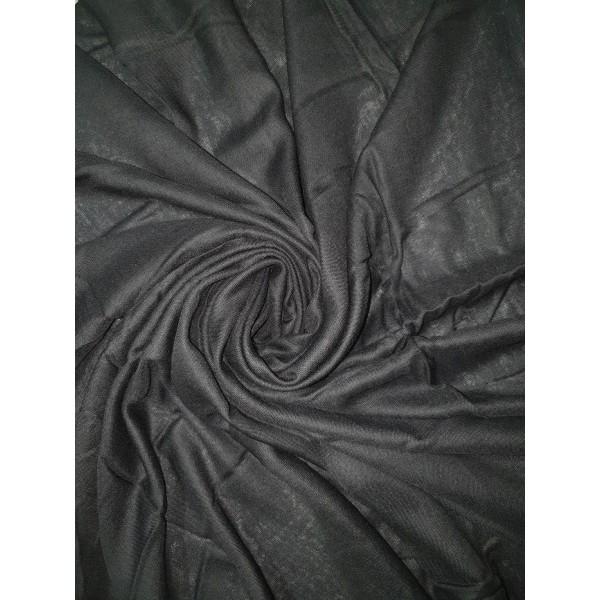 Plain Turkish Cotton Scarf - Black (XL)