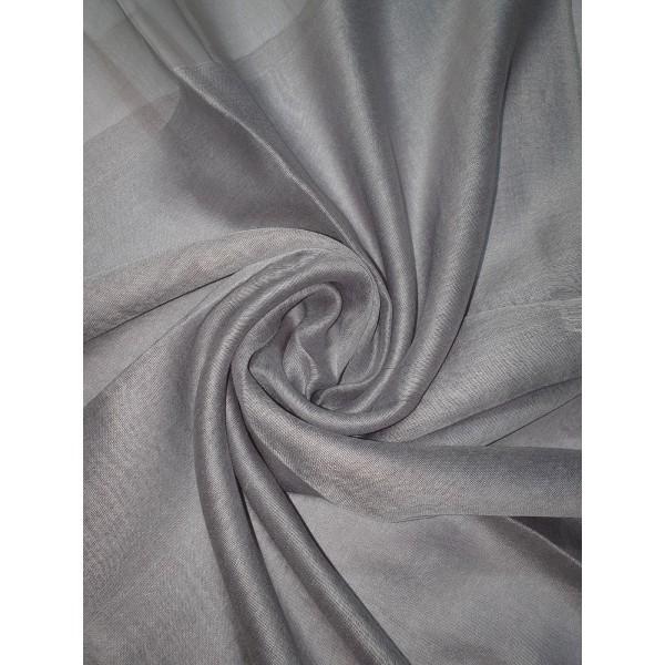 Silk Tassle scarf Grey (Grey Border)
