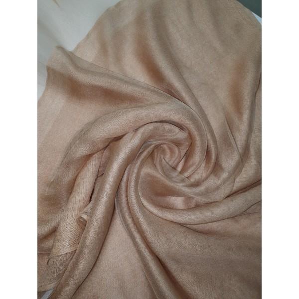 Silk Tassle scarf Light Gold
