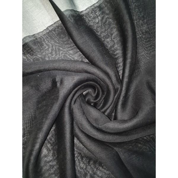 Silk Tassle scarf Black (Black Border)