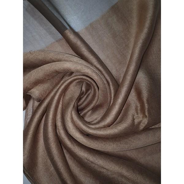 Silk Tassle scarf Dark Gold (Brown Border)