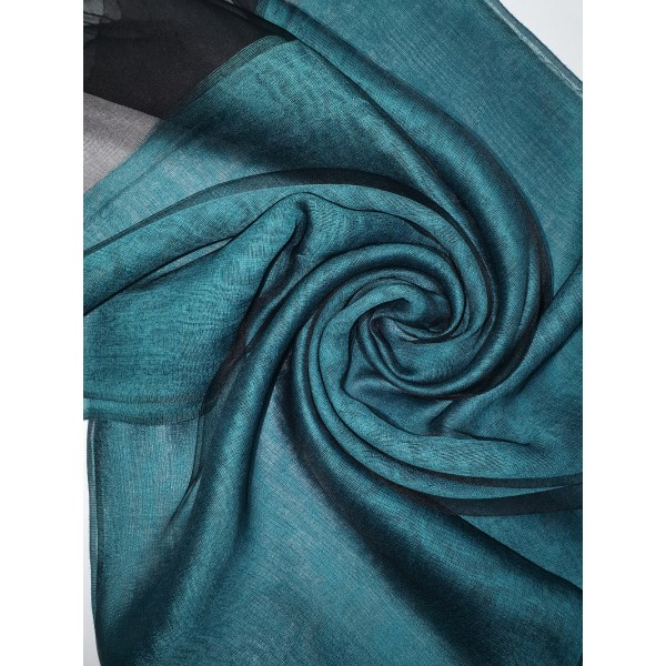 Silk Tassle scarf  Dark Teal