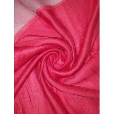 Silk Tassle scarf Red