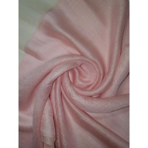 Silk Tassle scarf Baby Pink (Gold Border)