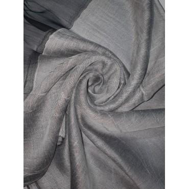 Silk Tassle scarf Silver