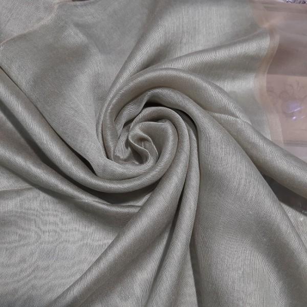 Silk Tassle scarf Lemon Green (Gold Border)