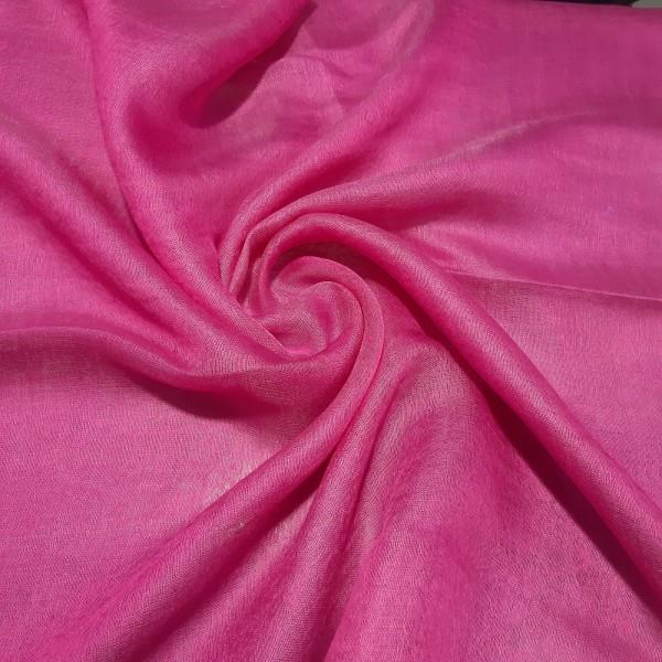Silk Tassle scarf Fuchsia (Pink Border)