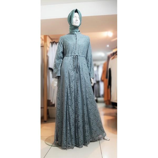 Arabian Nites - Flower Lace Jacket - Blue (58)