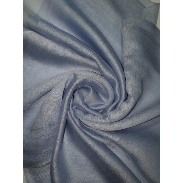 Silk Tassle scarf Light Blue
