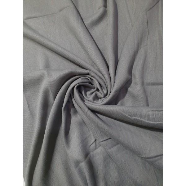 Plain Pashmina Dark Grey Scarf