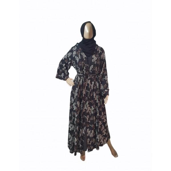 Floral Jacket Abaya