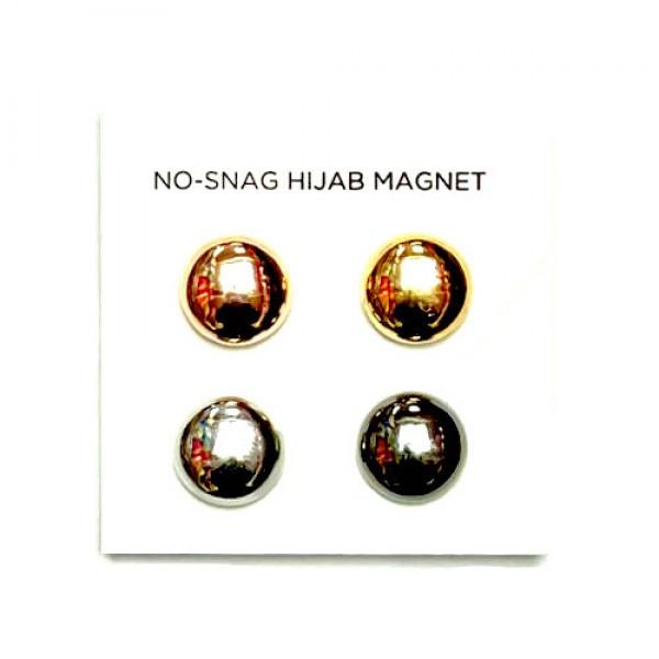 Hijab Magnets Clips - Metallic Round
