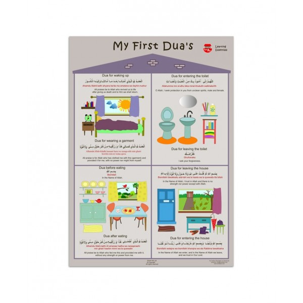 Posters Large : Daily Duas , Learning Essentials