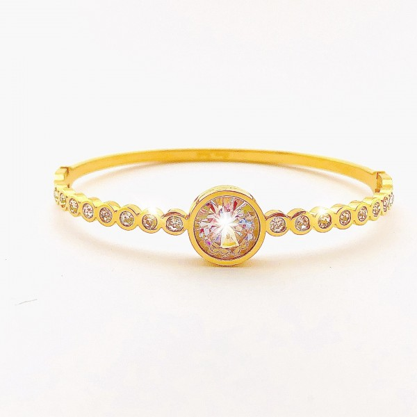 Bangle Crystals Gold