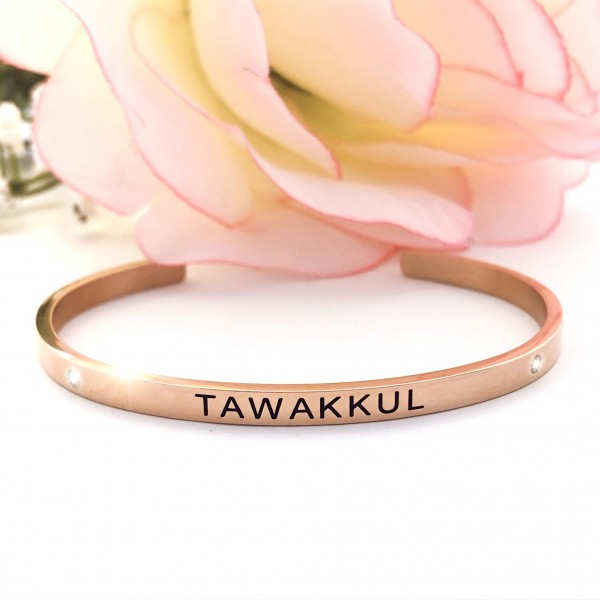S.G Cuff Bangle BLK Rose.G (Tawakkul)