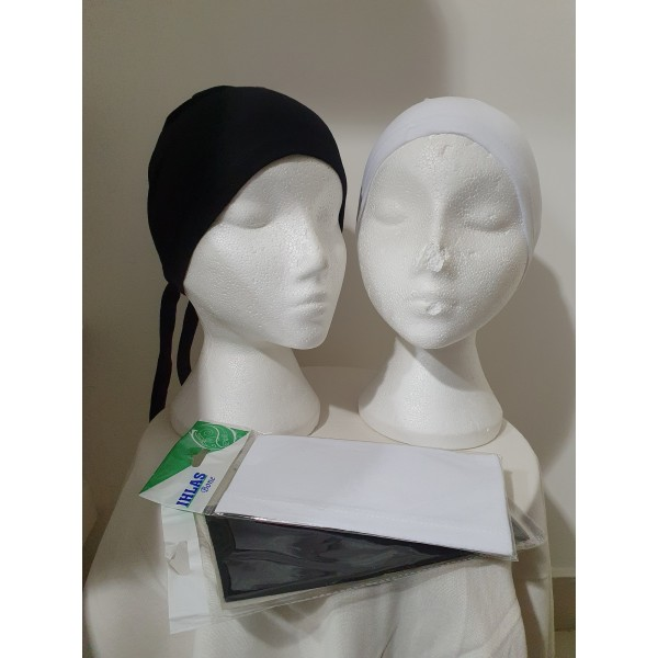 Plain Bonnet Black and White